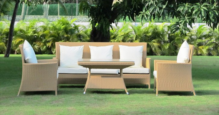 rattan outdoor furniture for an