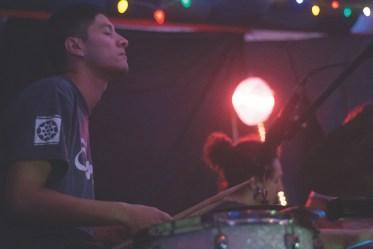 Nick Camacho on the drums. | photo by Emilyo Arias