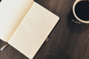 Open-notebook-coffee-writing-resources
