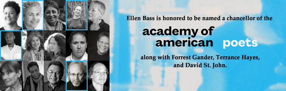 Ellen is now a chancellor of the Academy of American Poets