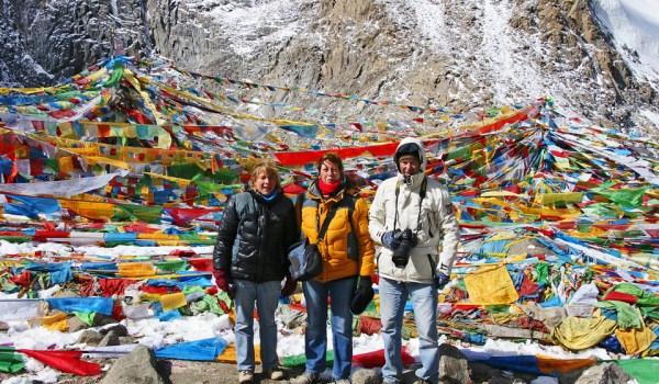 At a pass at 5.660 metres during walking the kora around Mount Kailash, September 2012
