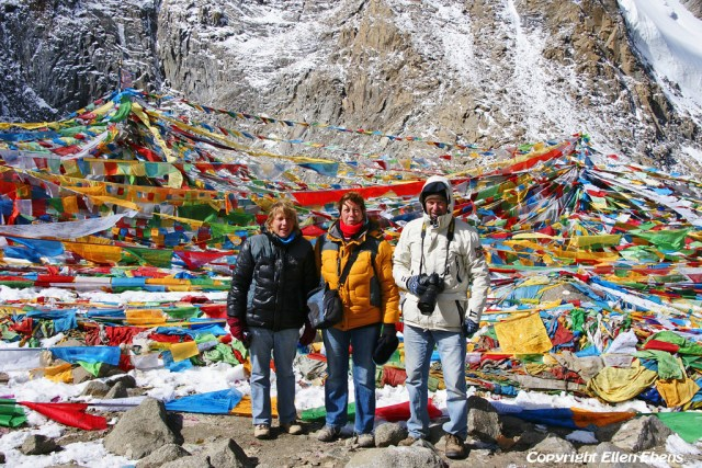 At Drolma La pass (5.660m) during the kora around Mount Kailash in 2012