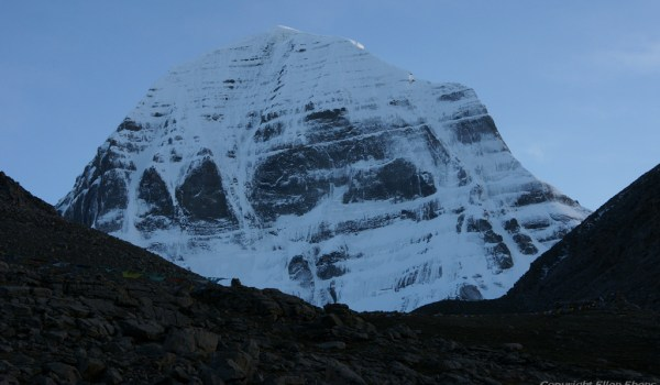 Day 1 of the kora: the north face of Mount Kailash at the start of darkness (2010)