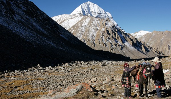 Day 2 of the kora: last view on Mount Kailash (2010)