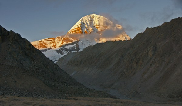Day 2 of the kora: sunrise on Mount Kailash (2011)