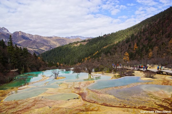 Huanglong National Park: Flamboyant Pond