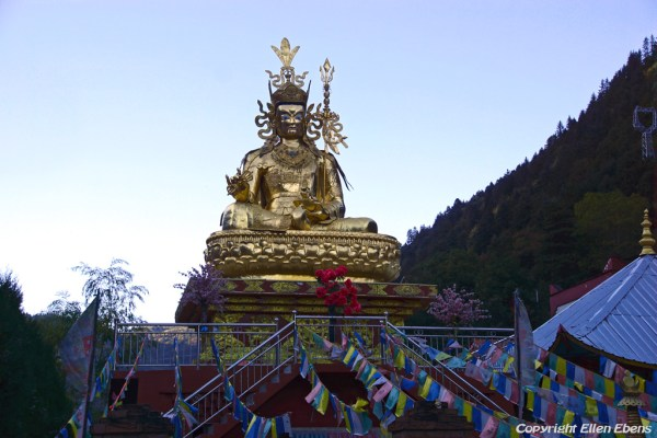 Statue of Padmasambhava in the town of Myaluo