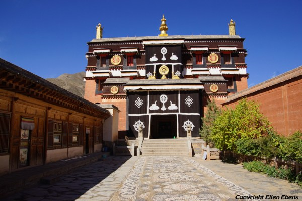 A hall at Labang Monastery, Xiahe