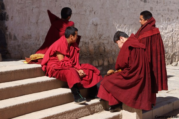 Xiahe: monks at Labrang Monastery