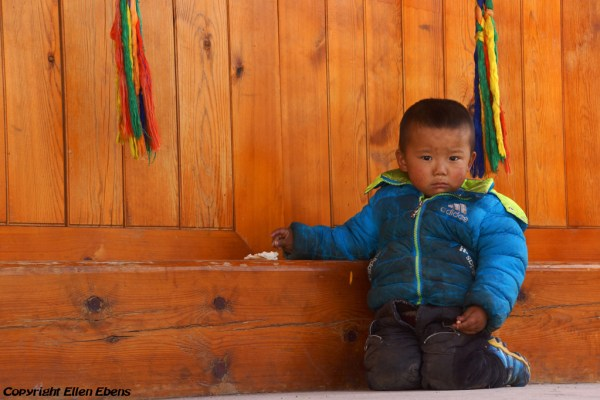 Young boy at the new monastery near the village of Langjiacun (in the vicinity of Rebkong)
