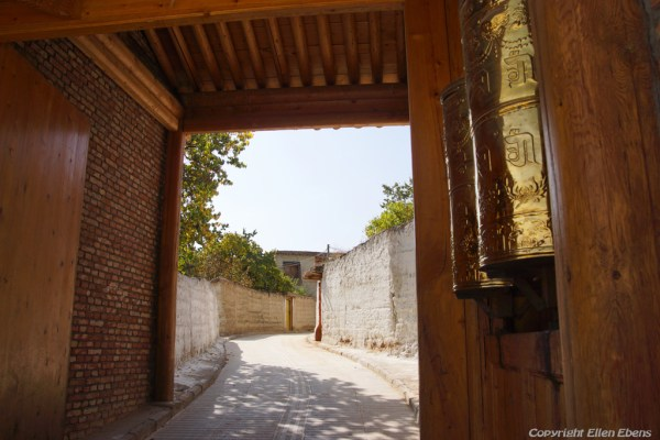 Entrance of Gomar monastery near Rebkong (Tongren)