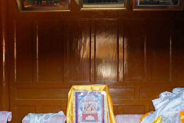 Inside the birth house of the 10th Panchen Lama in the little village of Mari