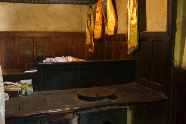 The room where the 10th Panchen Lama was born in his birth house in the little village of Mari