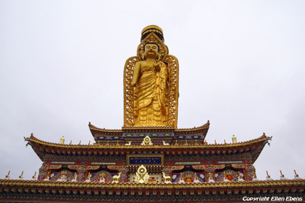 Buddha statue at Wutun Monastery at Rebkong (Tongren)