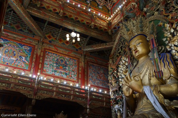 Statue of Maitreya (the future Buddha) at Wutun Monastery, Rebkong (Tongren)