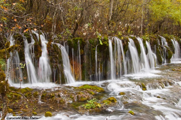 Jiuzhaigou National Park: waterfalls of Arrow Bamboo Lake