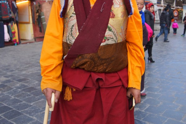 Lhasa, a monk at the Barkhor
