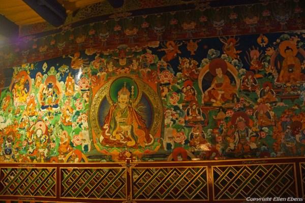 Murals inside Thandruk Monastery