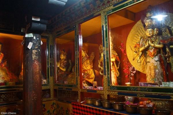 Inside a chapel of Thandruk Monastery