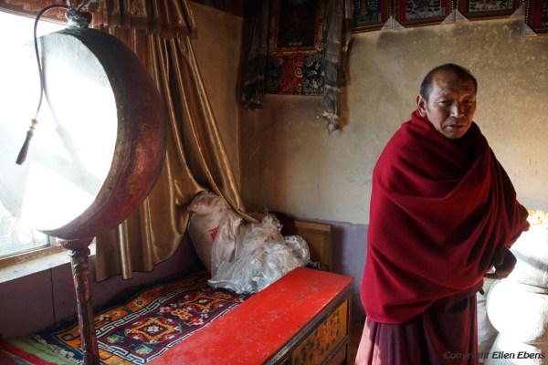 Monk at Kamadang Temple