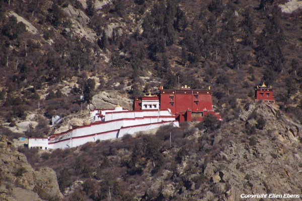 Driving up to Densatil Monastery