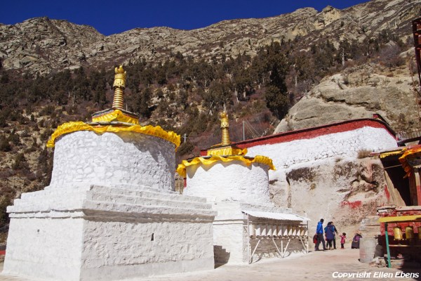 Stupas at Densatil Monastery