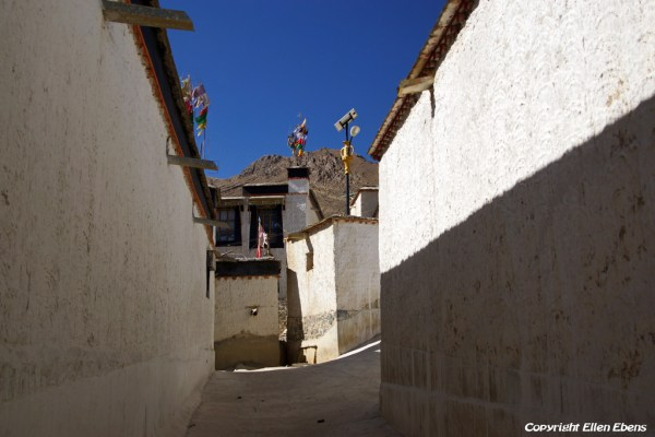 The old Tibetan part at the city of Shigatse