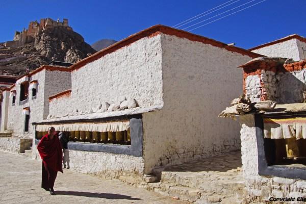 Inside Puntsholling Monastery