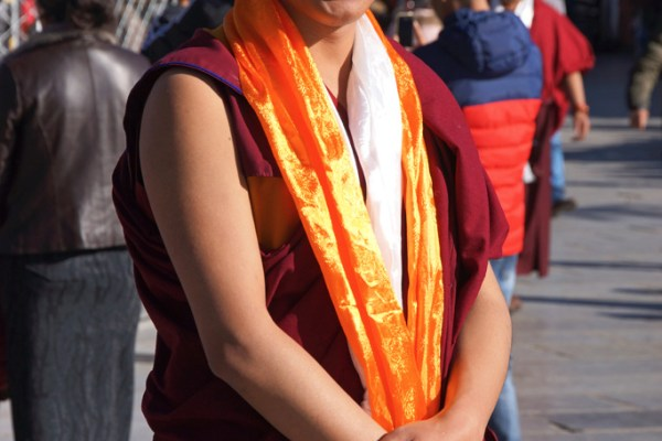 Lhasa: a monk at Barkhor Square