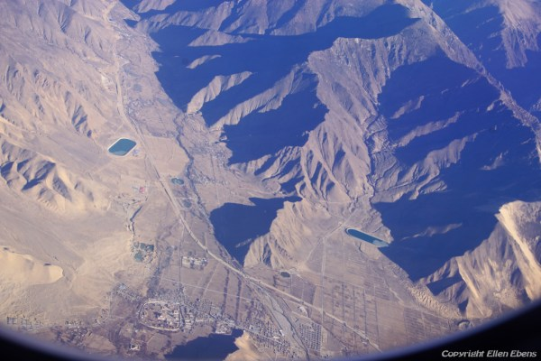 Samye Monastery seen from the air plane shortly after taking off from Lhasa Gonkar Airport