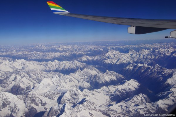 View from the air plane while flying from Lhasa to Chengdu