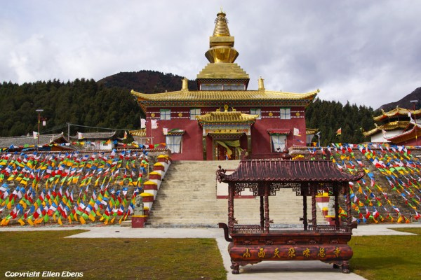 Kyangtsang Temple at Shanba village near Songpan