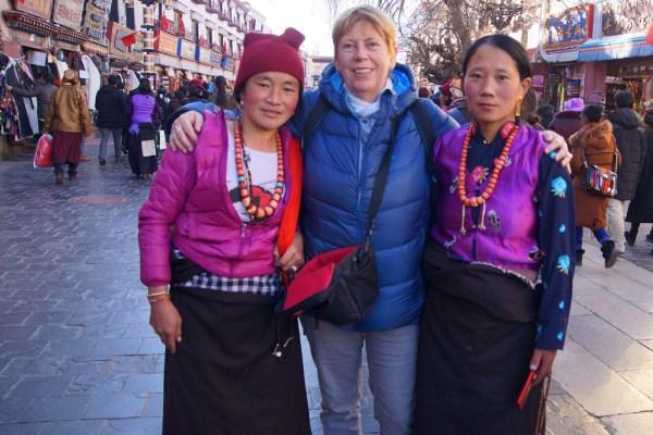 Me at the Barkhor, Lhasa