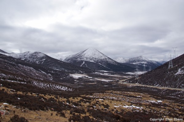 Clouded Serkyam La or Sejila Mountain Pass (4,728 meter) on the way to eastern Tibet