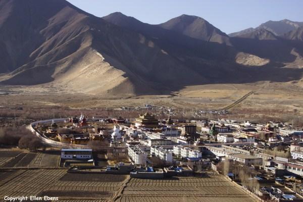 View on Samye Monastery from Herpori Hill