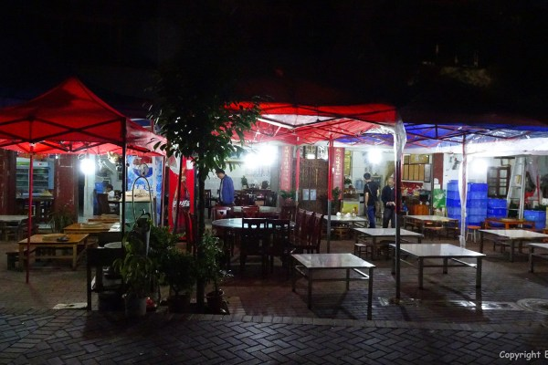 Restaurants at Fuxian Lake