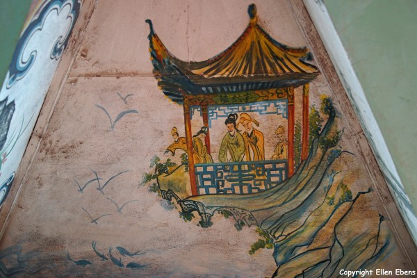 Painting in the stupa on the island in Fuxian Lake