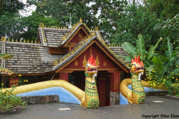 Entrance to the White Bamboo Shoot Pagoda near the border with Myanmar