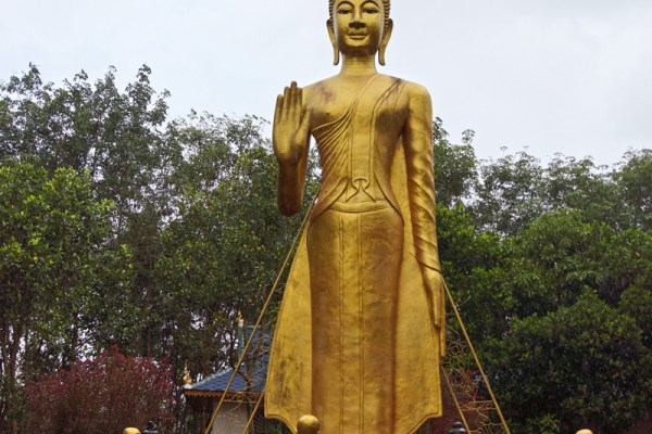 At the White Bamboo Shoot Pagoda complex near the border with Myanmar