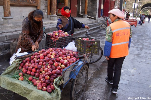 Street selling in the ancient town of Songpan