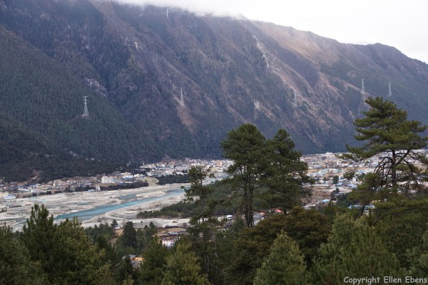 View from the monastery on the town of Bome (Pome).
