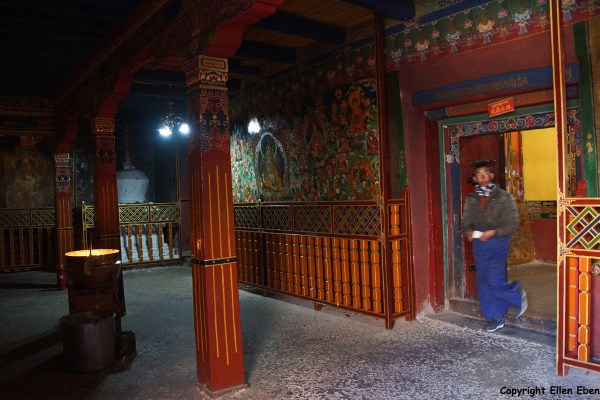 Inside Tandruk Temple near the town of Tsedang