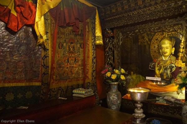 Inside Samding Monastery