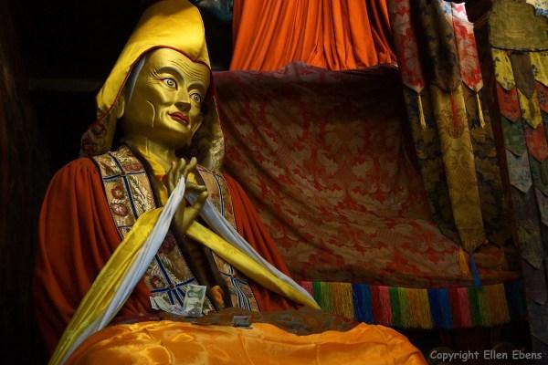 Inside a minor hall of Pelkor Chode Monastery