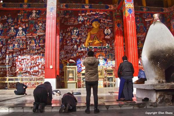 Lhasa, murals at Chakpori Hill
