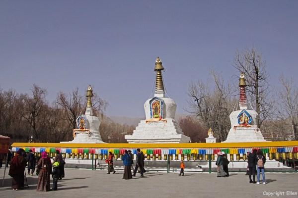 Lhasa, stupas behind the Potala Palace