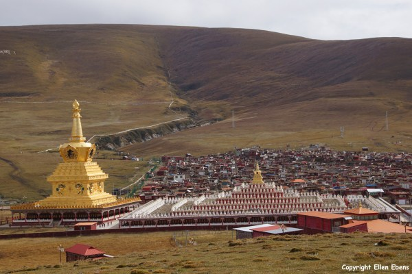 Two new Stupas at Yarchen Gar