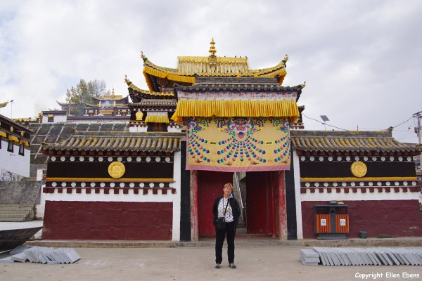 At the monastery of the Milarepa Temple