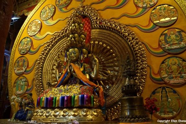 Statue inside Reting Monastery
