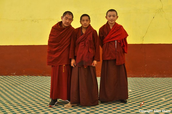 Nangchen monastery monks